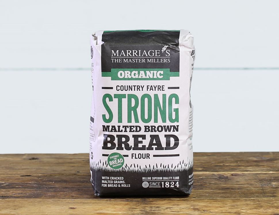 Country Fayre Malted Brown Bread Flour, Organic, Marriage's (1kg)