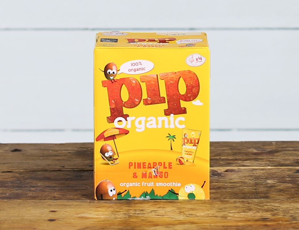 Pineapple & Mango Smoothie, Organic, Pip Organic (4 x 180ml)