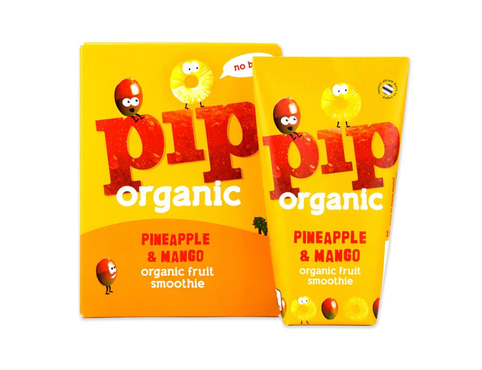 Pineapple & Mango Smoothie, Organic, Pip (4 x 180ml)