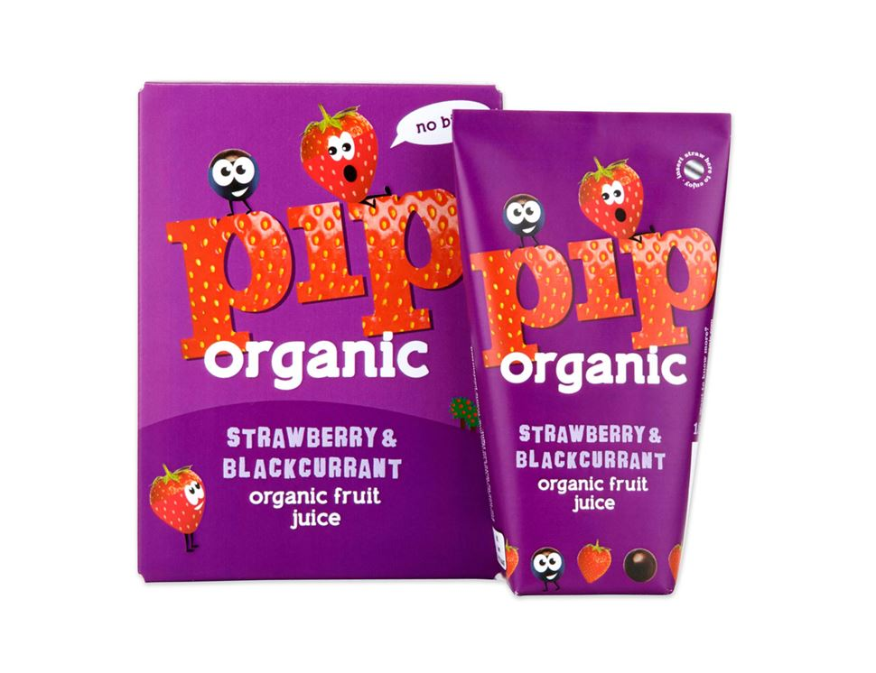 Strawberry & Blackcurrant Juice, Pip Organic (4 x 180ml)