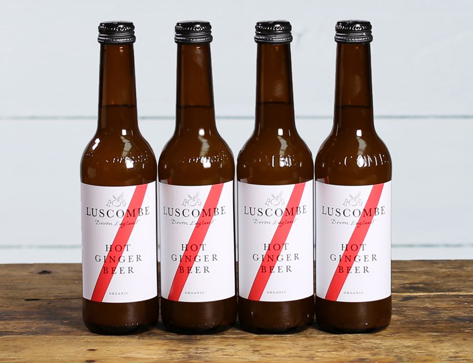 Hot Ginger Beer, Organic, Luscombe (4 x 270ml)