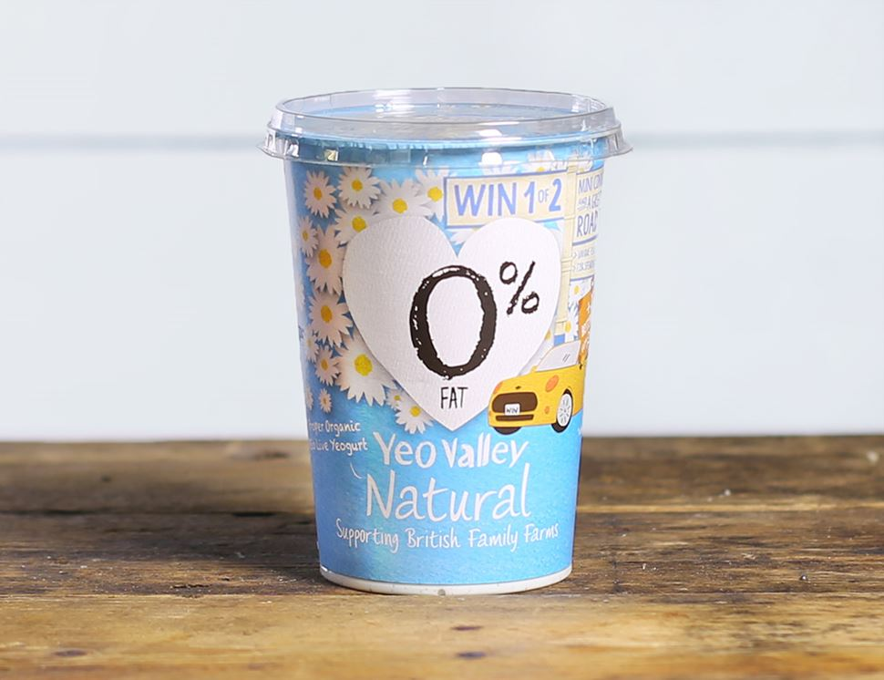Natural Yogurt, 0% Fat, Organic, Yeo Valley (500g)