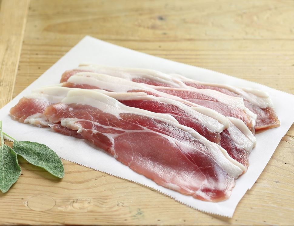 Dry-cured Back Bacon, Unsmoked, Organic (184g)