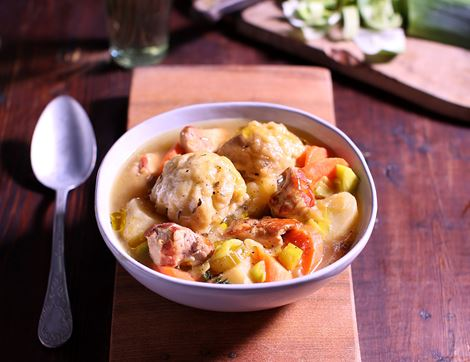 Chicken & Leek Stew with Dumplings