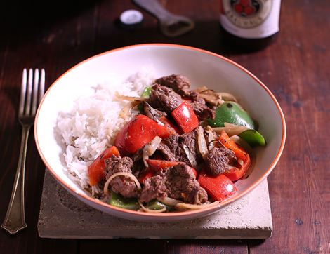 Jerk Beef Stew & Rice