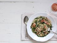 Buttered Salmon & Samphire Spaghetti