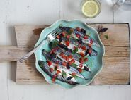 Mackerel Ceviche with Tomatoes, Chilli & Basil