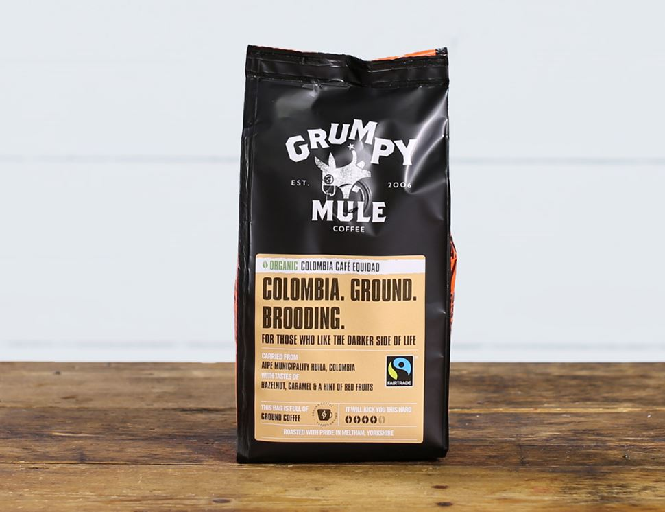 Colombia Café Equidad, Ground Coffee, Organic, Grumpy Mule (227g)