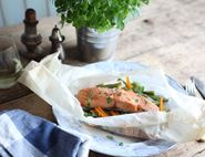 Buttery Ginger Salmon Parcel