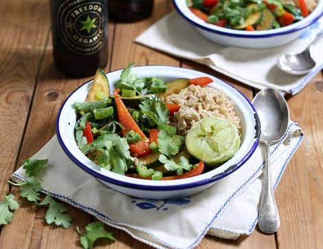 Courgette & Coconut Curry with Rice