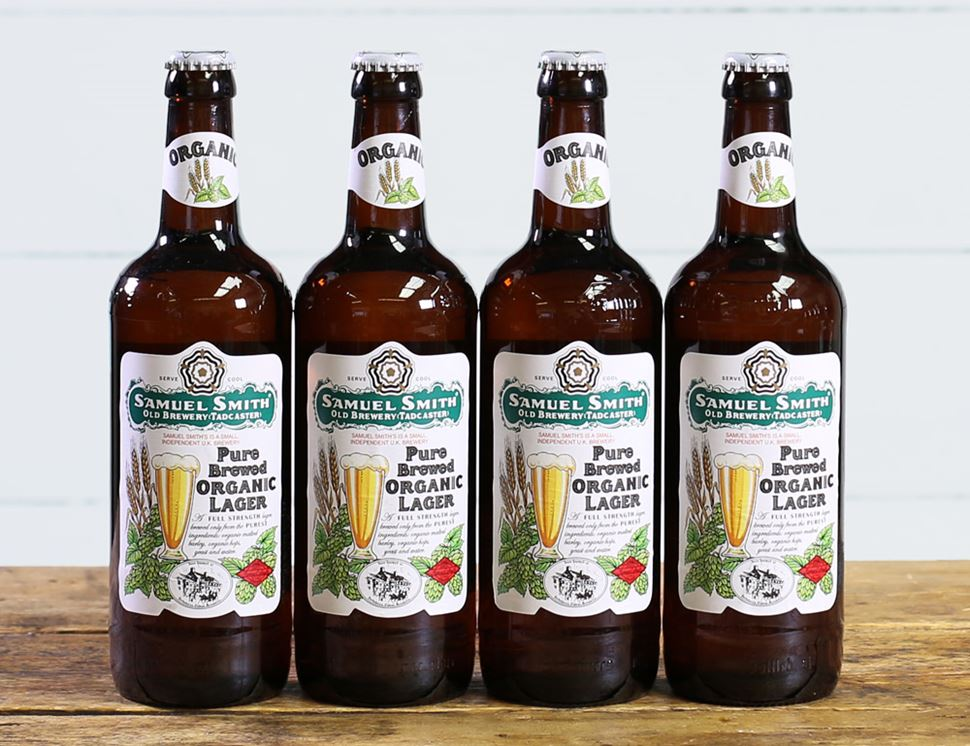 Samuel Smith's Pure Brewed Organic Lager (4 x 550ml)