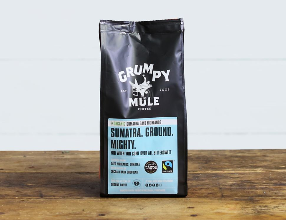 Sumatra Gayo Highlands, Ground Coffee, Organic, Grumpy Mule (227g)