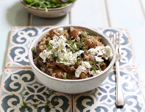 Porcini Mushroom & Goat's Cheese Risotto