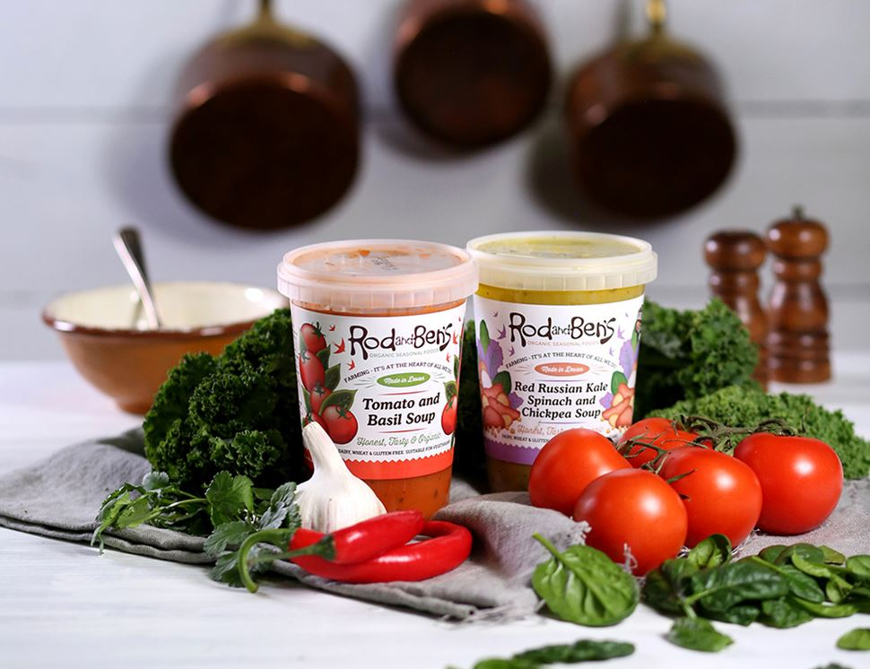 Red Russian Kale, Spinach and Chickpea Soup, Organic, Rod & Ben's (600g)