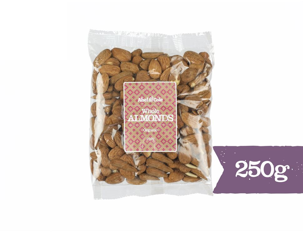 Whole Almonds, Organic, Abel & Cole (250g)
