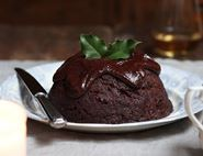 Double Chocolate & Cognac Christmas Pudding