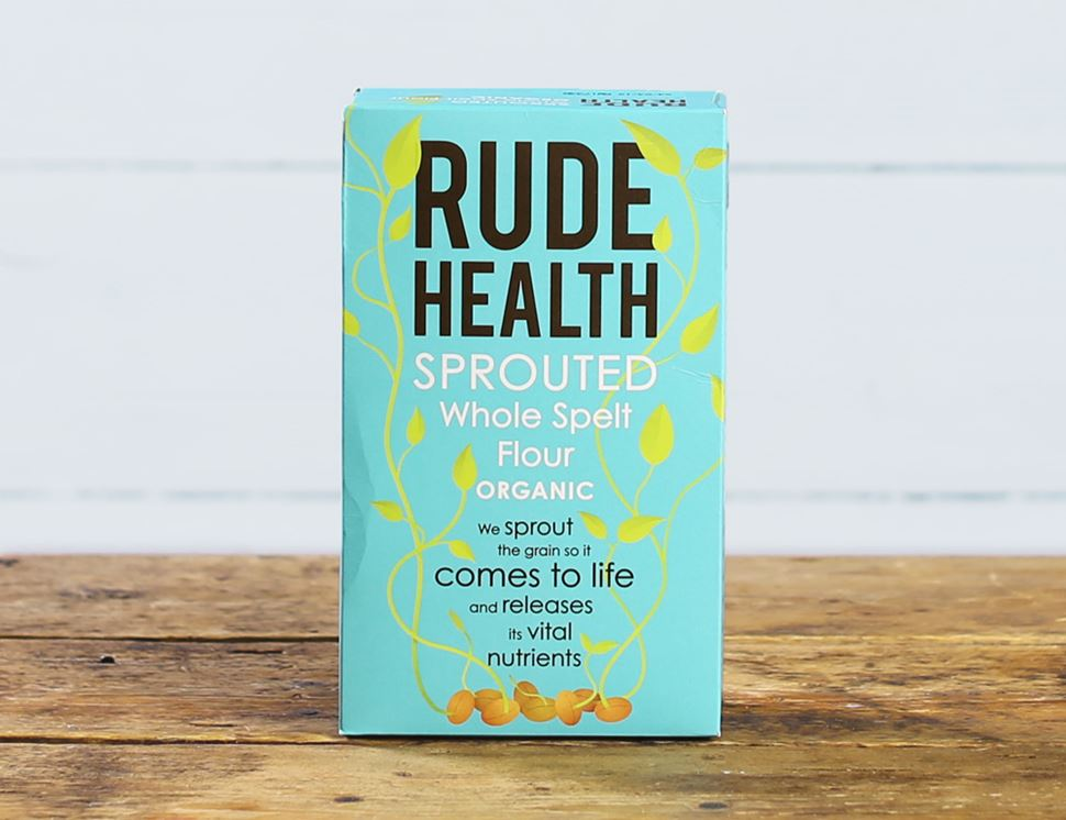 Sprouted Whole Spelt Flour, Organic, Rude Health (500g)