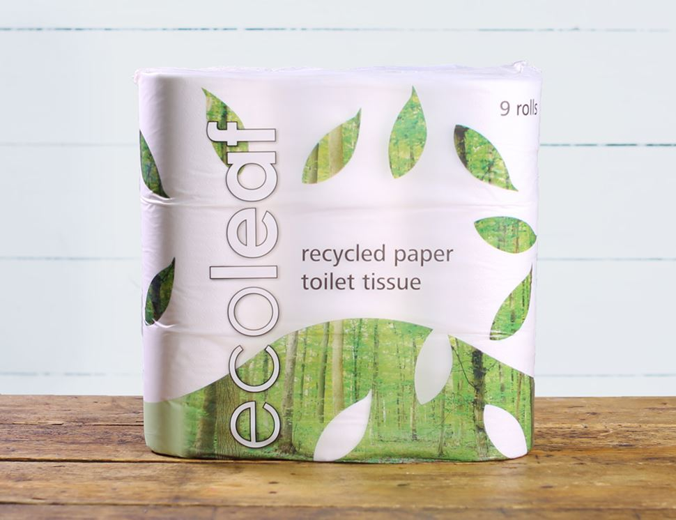 Toilet Tissue, 100% Recycled, Ecoleaf (pack of 9)