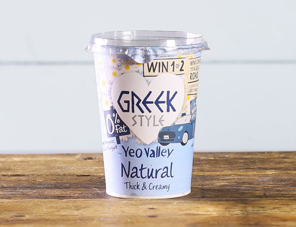 Greek Style Natural Yogurt, 0% Fat, Organic, Yeo Valley (450g)