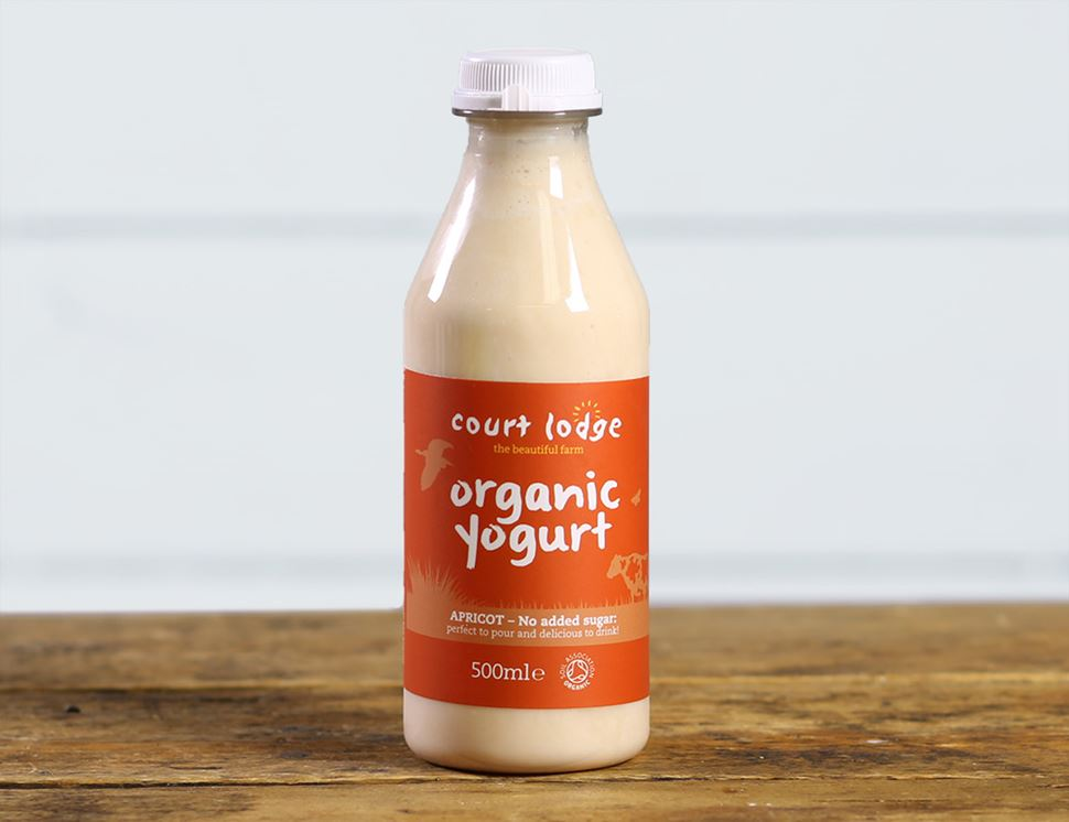 Apricot Drinking Yogurt, Organic, Court Lodge (500ml)