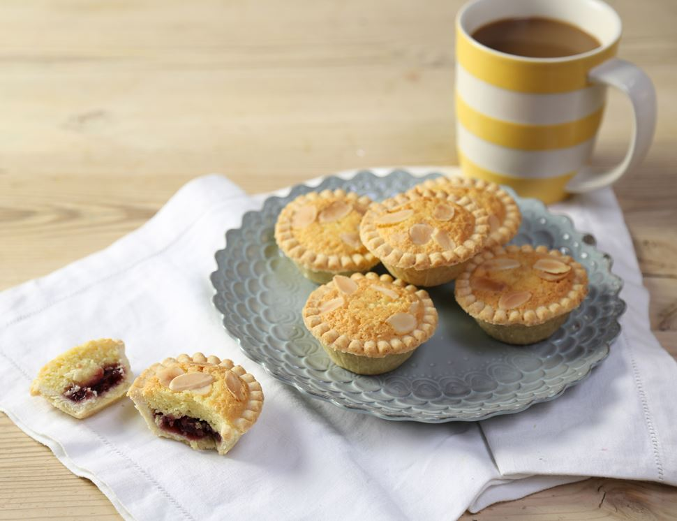 Raspberry & Frangipane Tarts, Organic, Authentic Bread Co. (Pack of 6)