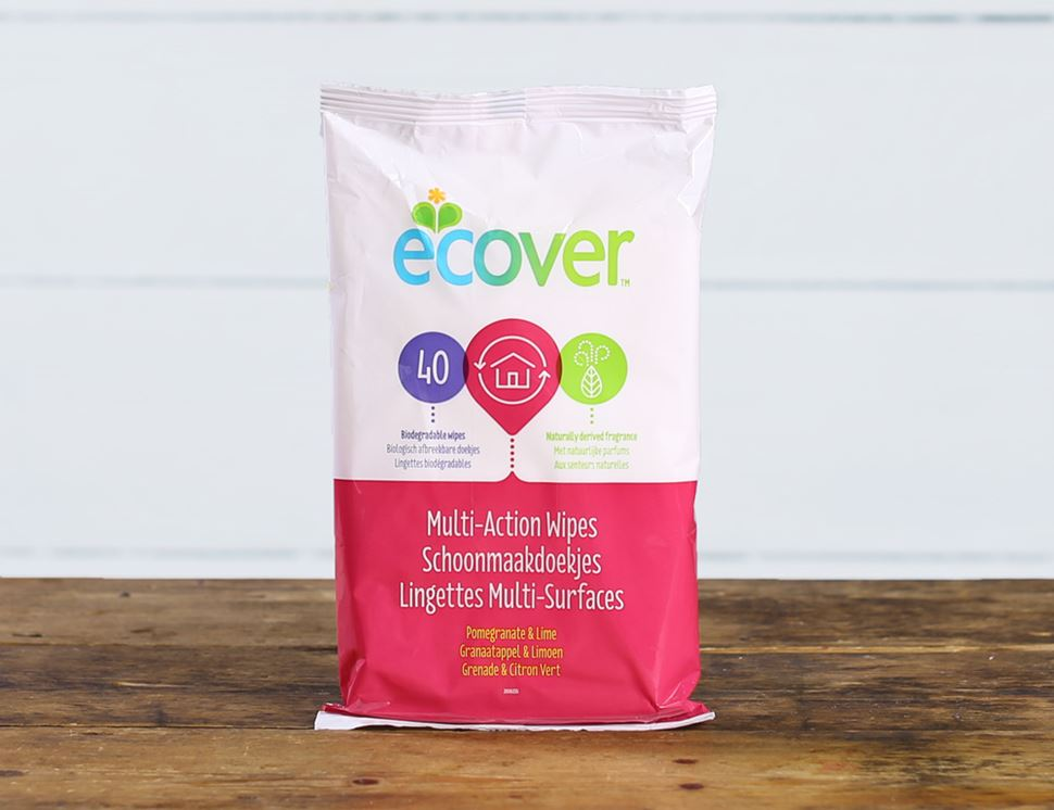 Multi-Action Wipes, Ecover (40 Wipes)