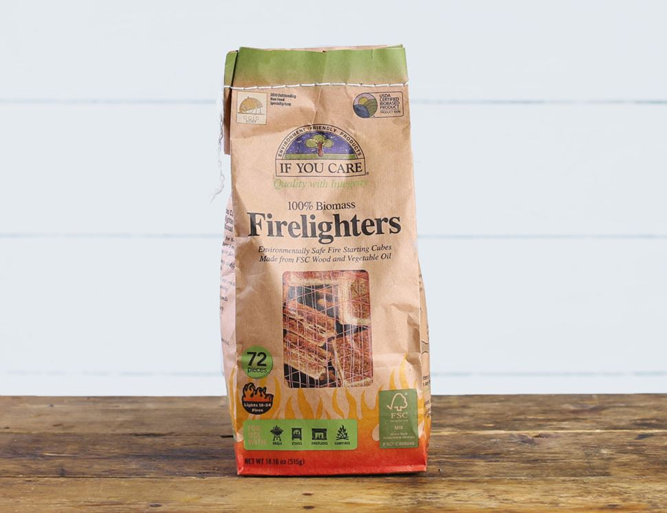 100% Biomass Firelighters, If You Care (72 pieces)