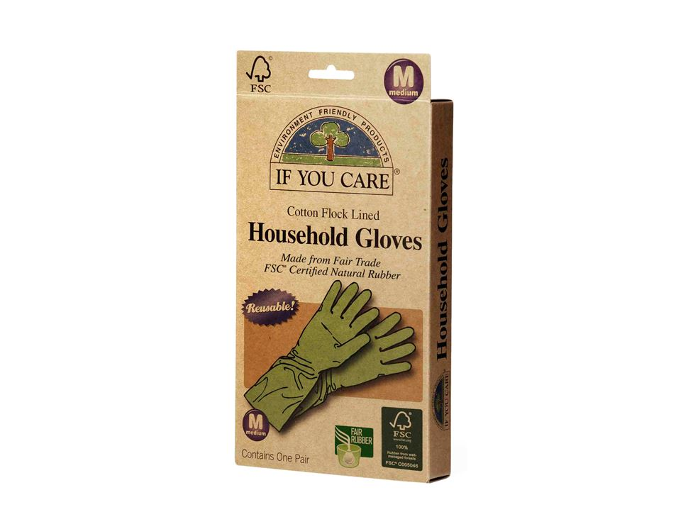 Household Gloves, Medium, If You Care (1 pair)