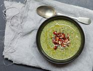 Kale, Butterbean & Orange Soup with Almonds