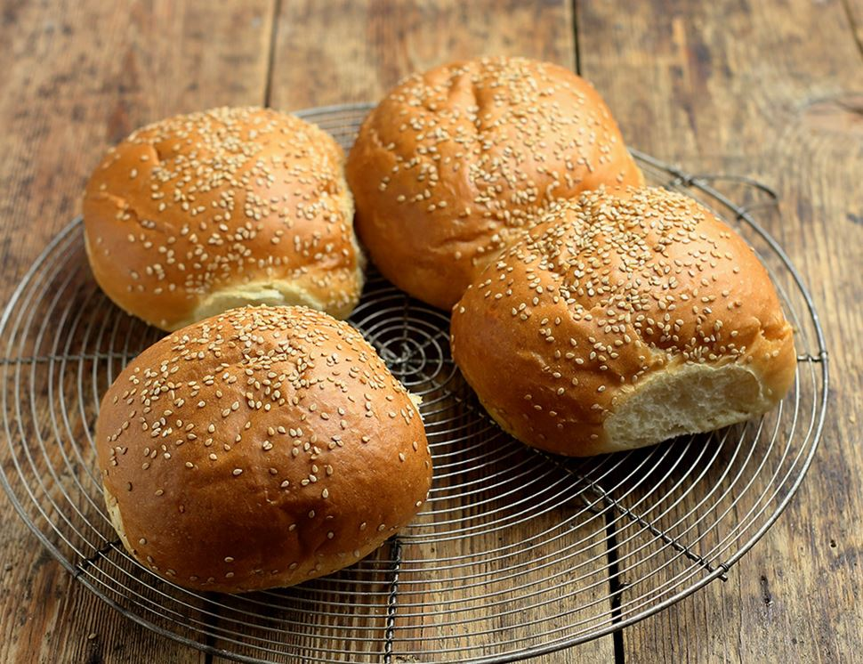 Brioche Burger Buns, Organic, Authentic Bread Co. (360g, Pack of 4)