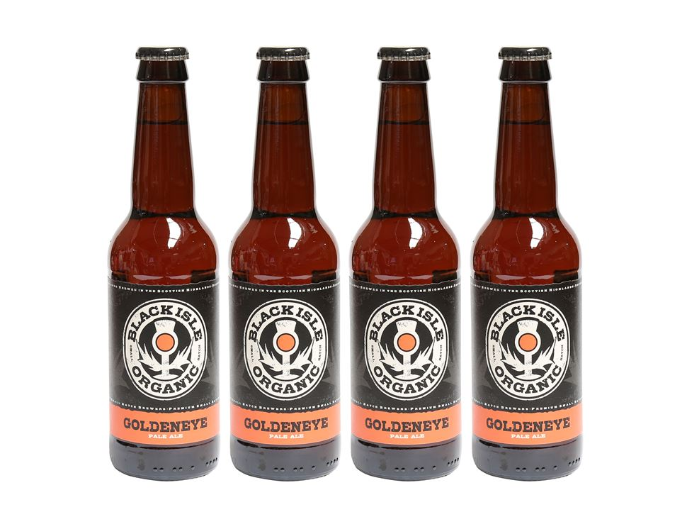 Goldeneye Beer, Organic, Black Isle (4 x 330ml)