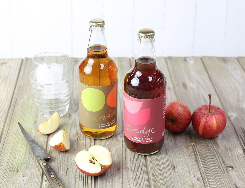 Devon Blush Cider, Organic, Ashridge (4 x 500ml)