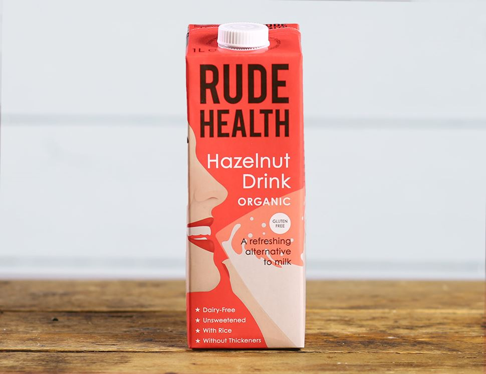 Hazelnut Drink, Organic, Rude Health (1 litre)