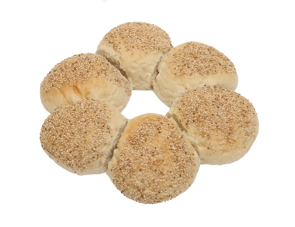 Sesame Roll Couronne, Bake at Home, Authentic Bread Co (Pack Of 6)