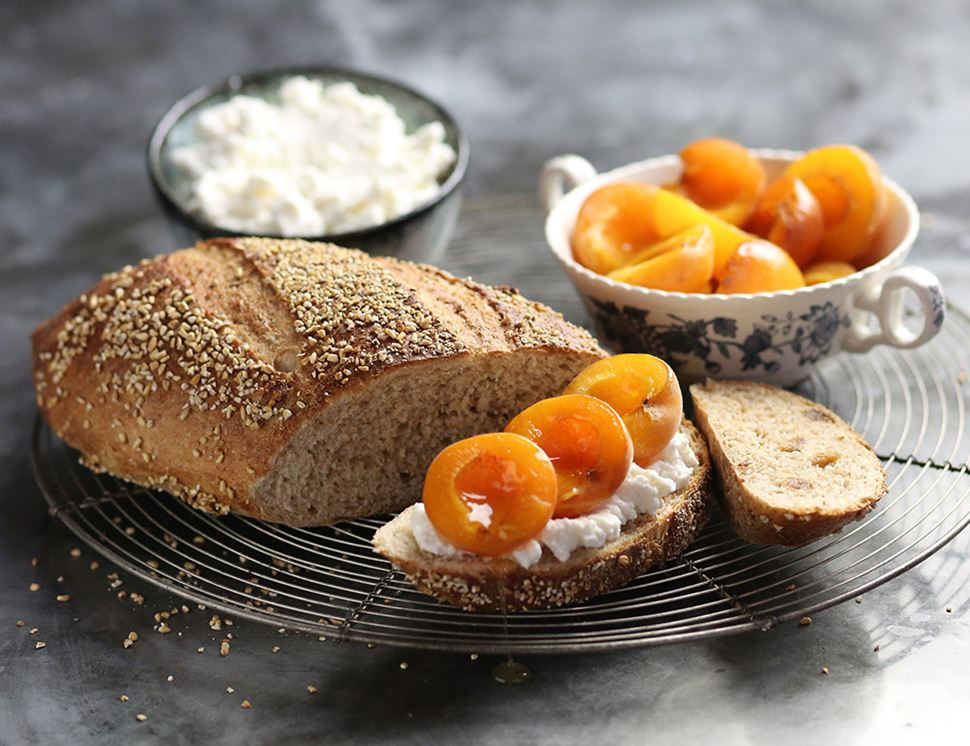 Apricot, Oat & Honey Bread, Bake at Home, Organic, Authentic Bread Co (400g)