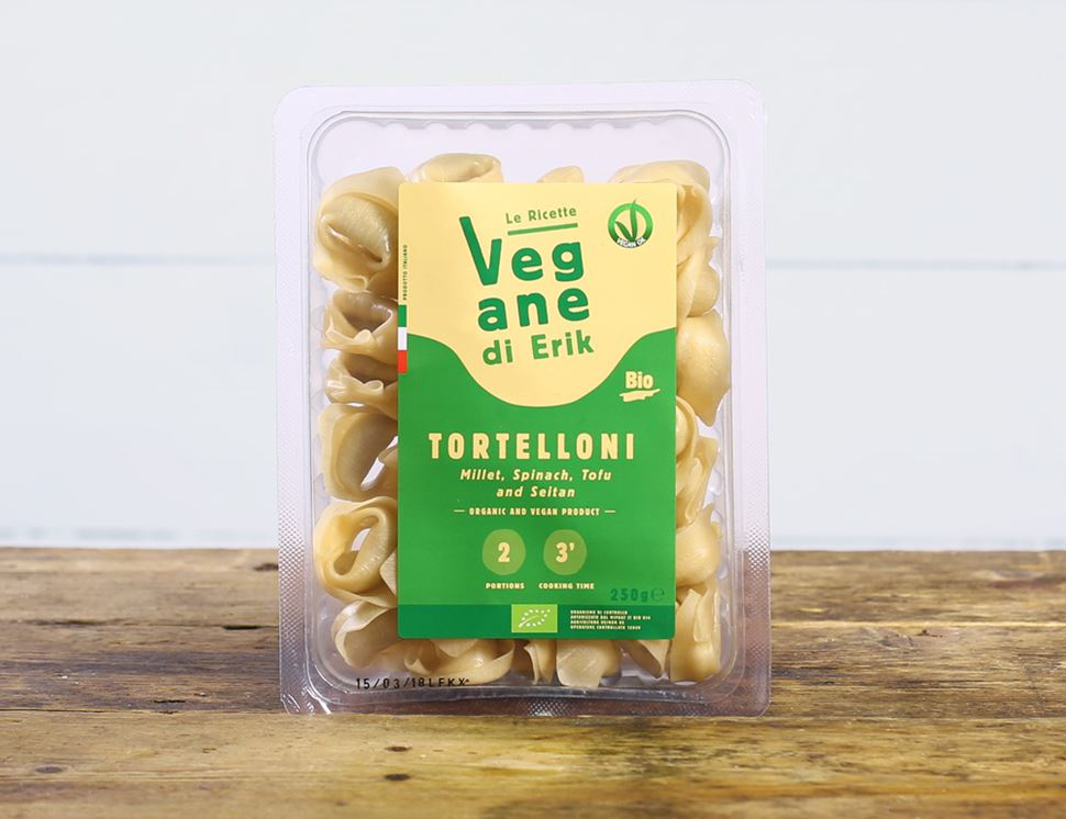 Tortelloni with Millet, Spinach, Tofu & Seitan, Organic, Rossi (250g)