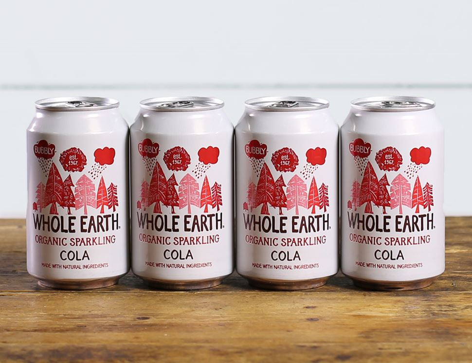 Cola Drink, Sparkling, Organic, Whole Earth (4 x 330ml)