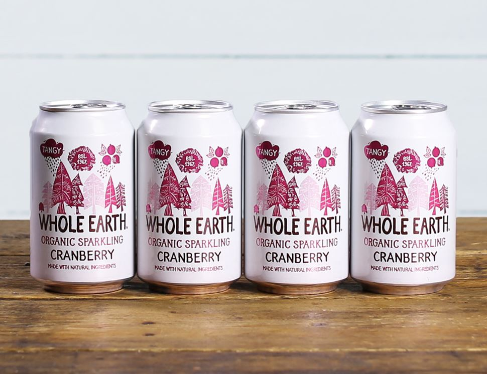 Cranberry Drink, Sparkling, Organic, Whole Earth (4 x 330ml)
