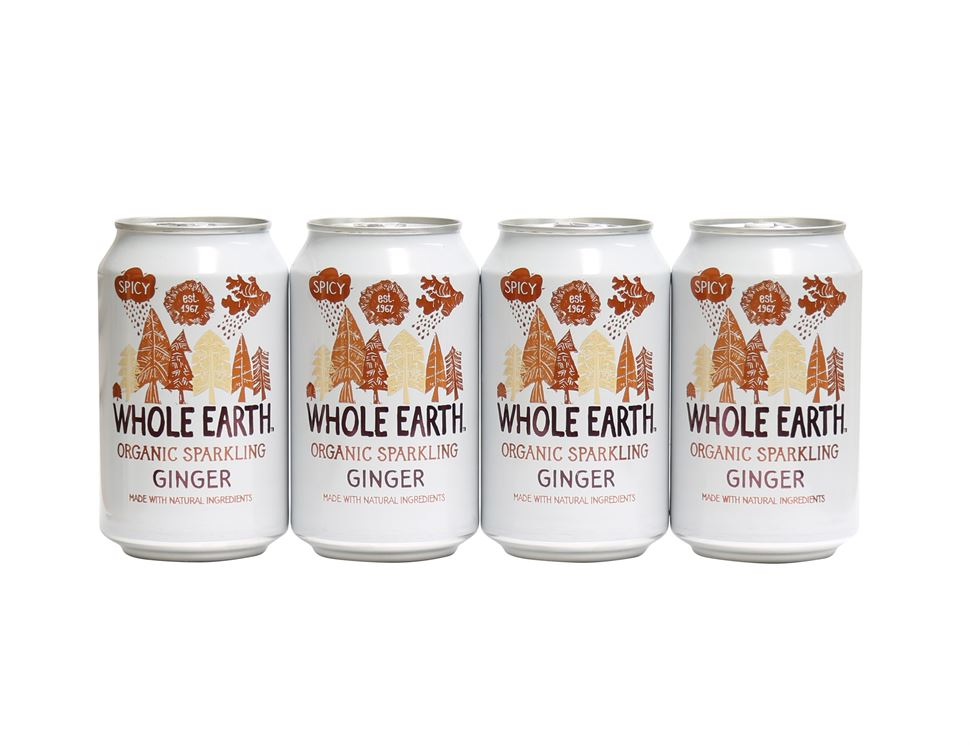 Ginger Drink, Sparkling, Organic, Whole Earth (4 x 330ml)