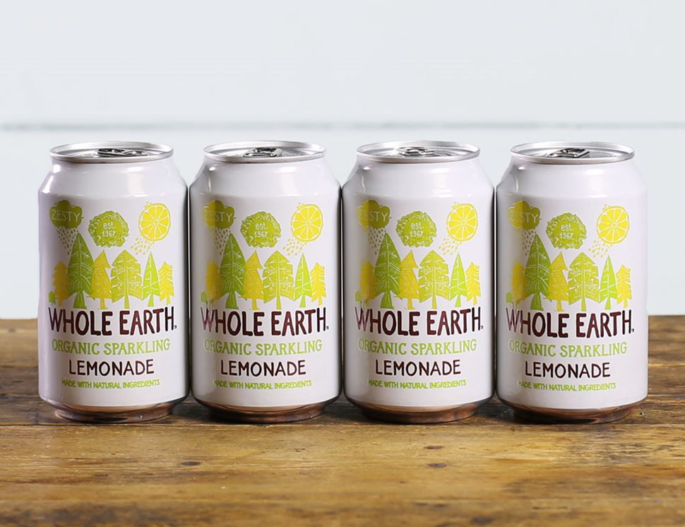 Lemonade Drink, Sparkling, Organic, Whole Earth (4 x 330ml)