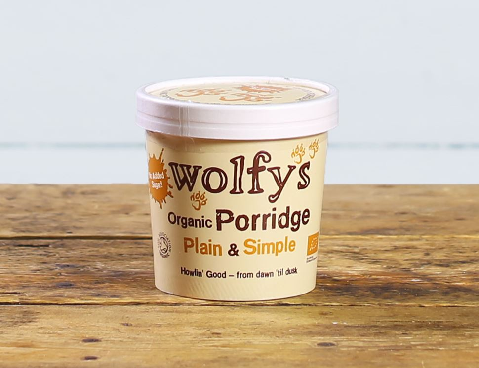Porridge Pot, Plain and Simple, Organic, Wolfy's (60g)