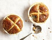 Hot Cross Bread & Butter Puddettes