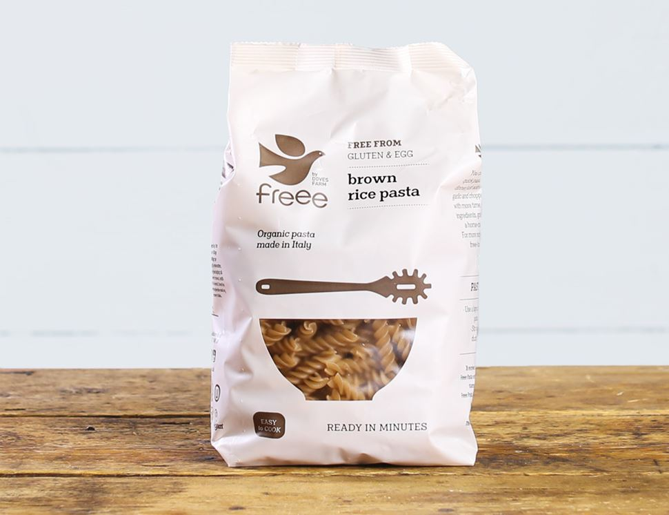 Brown Rice Fusilli, Gluten Free, Organic, Doves Farm (500g)