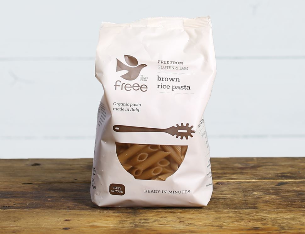 Brown Rice Penne, Gluten Free, Organic, Doves Farm (500g)