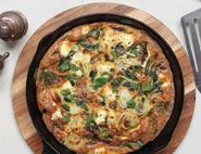 Griddled Spring Onion Feta & Mint Frittata