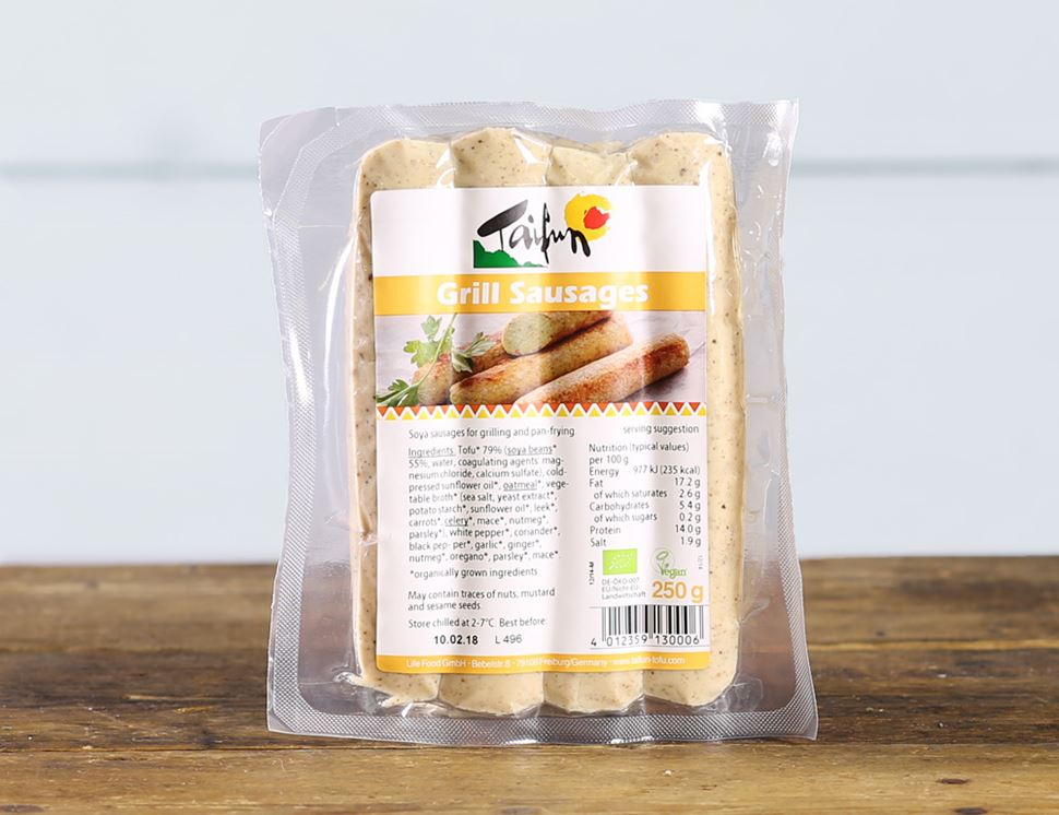 Tofu Grill Sausages, Organic, Taifun (250g, pack of 4)