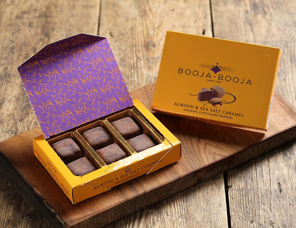 Almond Sea Salt Caramel Chocolate Truffles Organic Booja Booja 69g