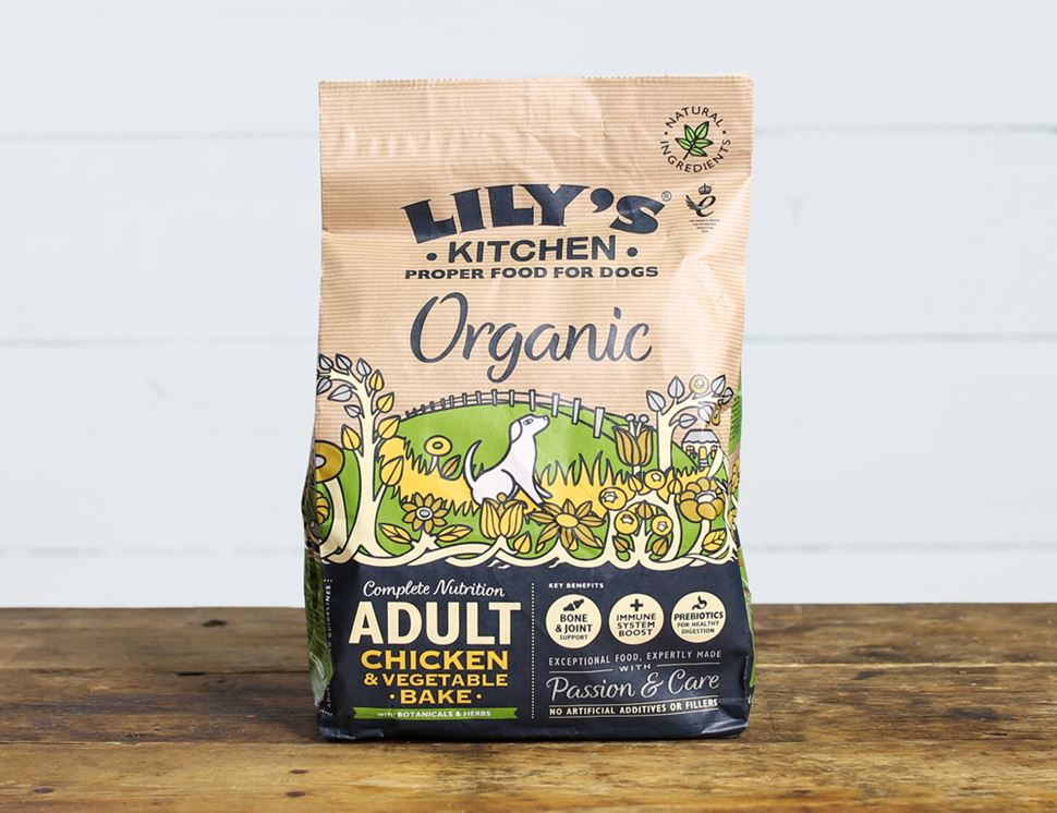 Chicken with Vegetable Bake for Dogs, Organic, Lily's Kitchen (1kg)