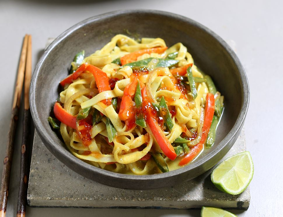 Quick Coconut Curry Noodles