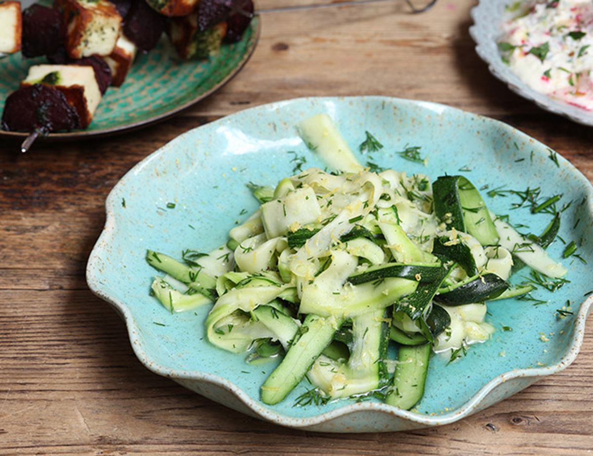 Zesty Courgettey Ribbons